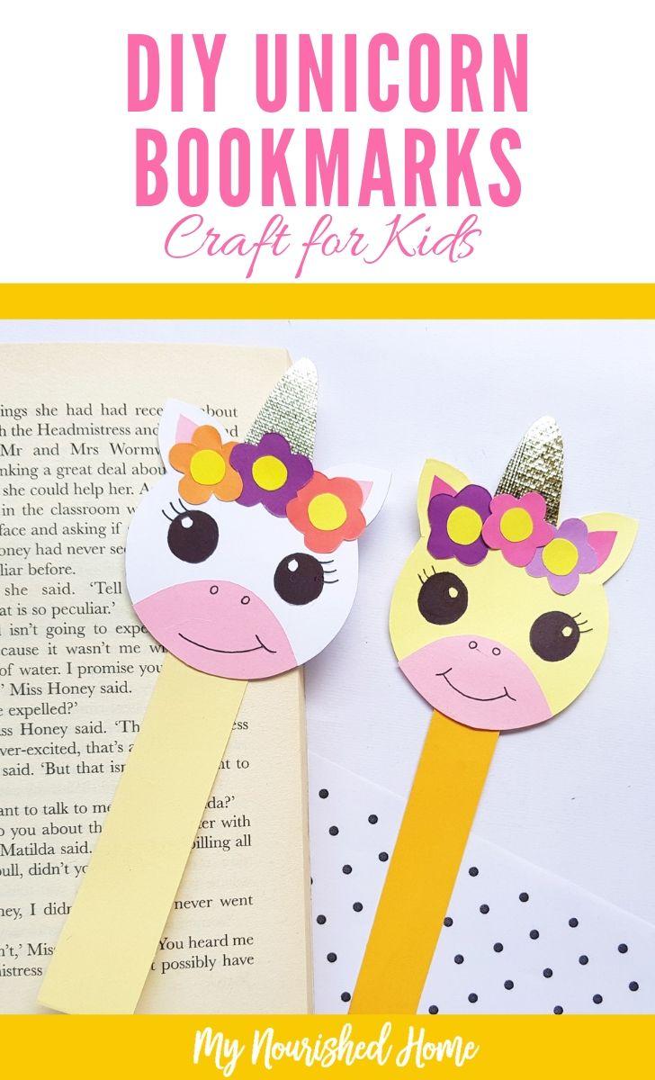 DIY Unicorn Bookmarks Craft for Kids - MyNourishedHome.com