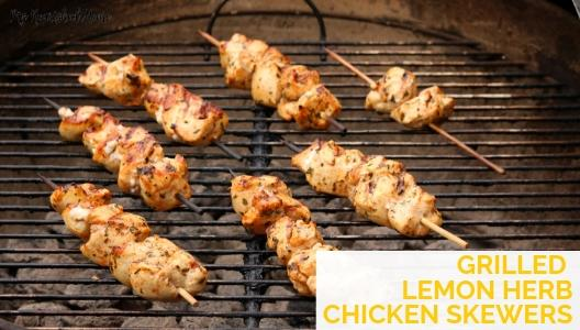 Easy Summer Recipe - Grilled Lemon Herb Chicken Skewers on the Grill - MYNOURISHEDHOME.COM