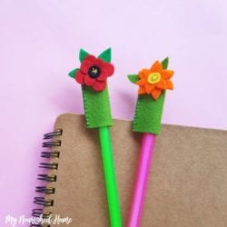 Flower Pencil Toppers Craft - MyNourishedHome.com