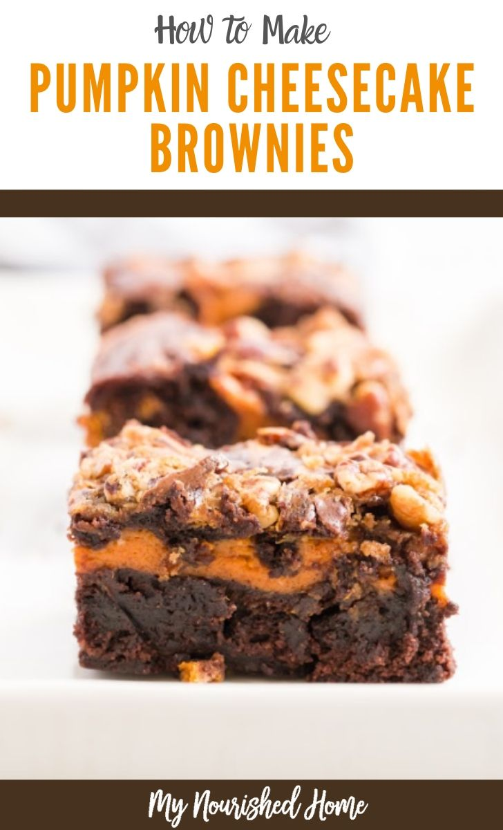 How to Make Pumpkin Cheesecake Brownies - Easy Recipe - MyNourishedHome.com