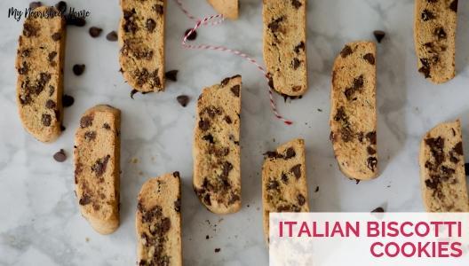 Italian Biscotti Cookies - Easy Recipe - MYNOURISHEDHOME.COM
