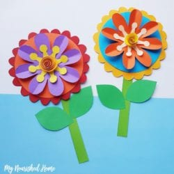 Paper Craft for Kids - Make Whimsical Flowers Out of Paper - MyNourishedHome.com