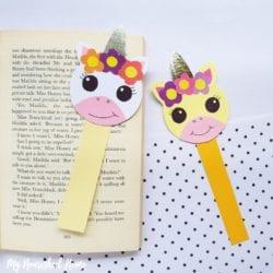 Paper Unicorn Bookmark Craft - MyNourishedHome.com