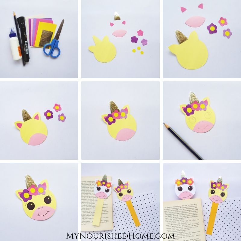 Paper Unicorn Craft for Kids - MyNourishedHome.com