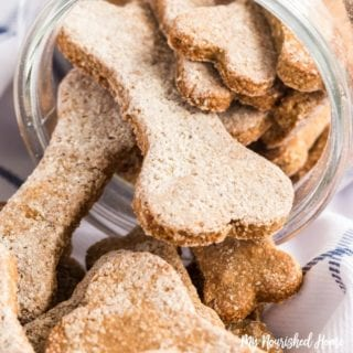Peanut Butter Banana Dog Treats - MyNourishedHome.com