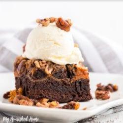 Pumpkin Cheesecake Brownies - MyNourishedHome.com