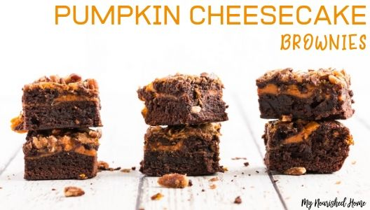 Pumpkin Cheesecake Brownies Recipe - MYNOURISHEDHOME.COM