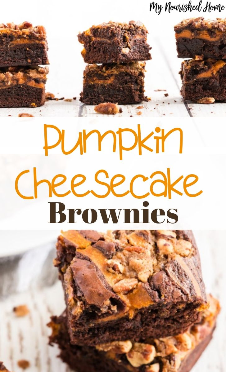 Pumpkin Cheesecake Brownies Recipe for Fall - MyNourishedHome.com
