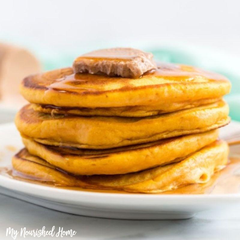 Pumpkin Pancakes - MyNourishedHome.com