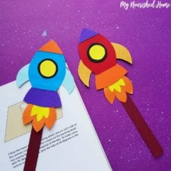 Rocket Bookmark Craft for Kids - MyNourishedHome.com