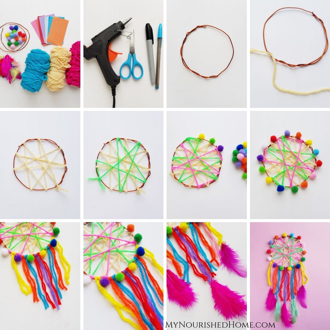 Step by Step Directions to Make a Dreamcatcher Craft - MyNourishedHome.com