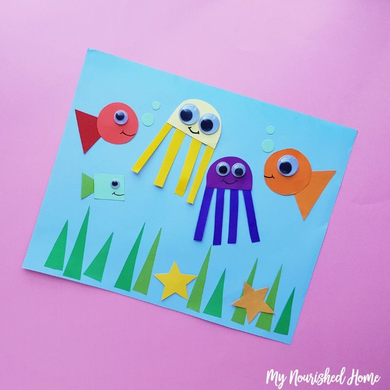 Under the Sea Toddler Craft - MyNourishedHome.com