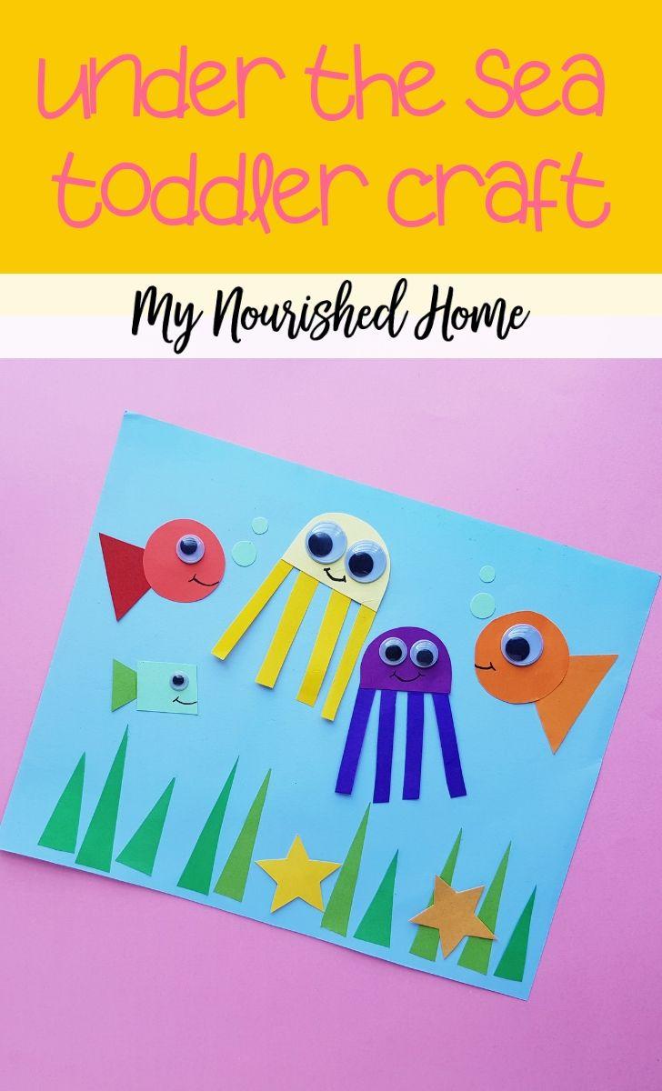 Under the Sea Toddler Craft for Kids - MyNourishedHome.com