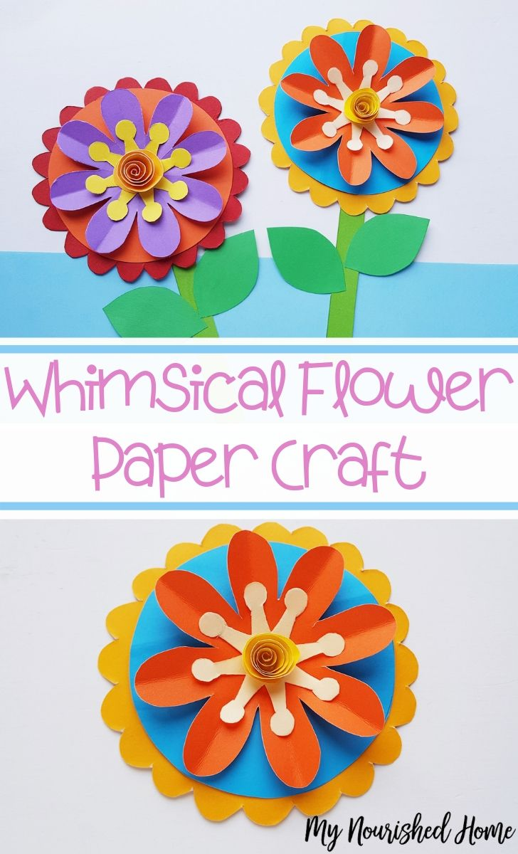 Whimsical Flower Paper Craft for Kids - MyNourishedHome.com
