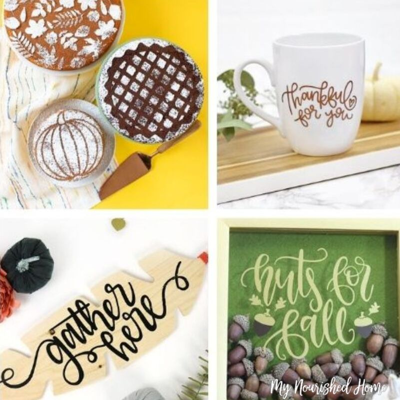 Fall Crafts Made with the Cricut - MyNourishedHome.com