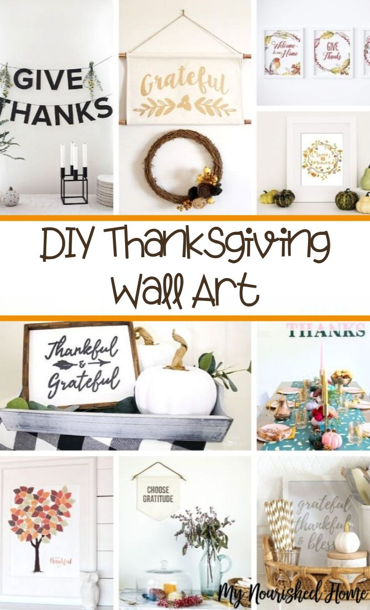DIY Thanksgiving Wall Art - MyNourishedHome.com