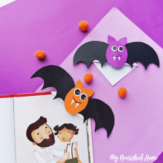 Halloween Bat Bookmarks - MyNourishedHome.com
