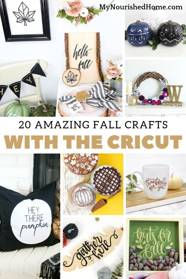 20 Amazing Fall Crafts to Make with the Cricut - MyNourishedHome.com