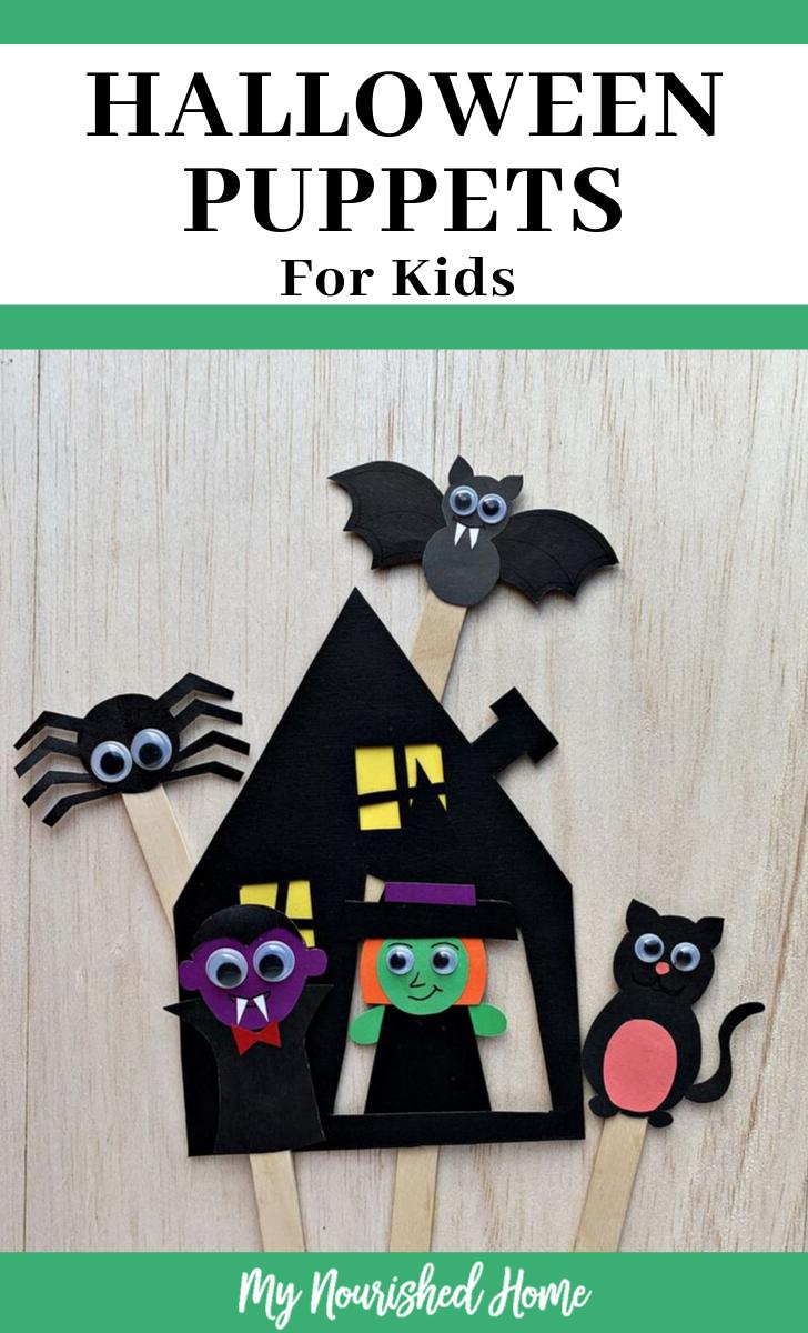 DIY Halloween Stick Puppets