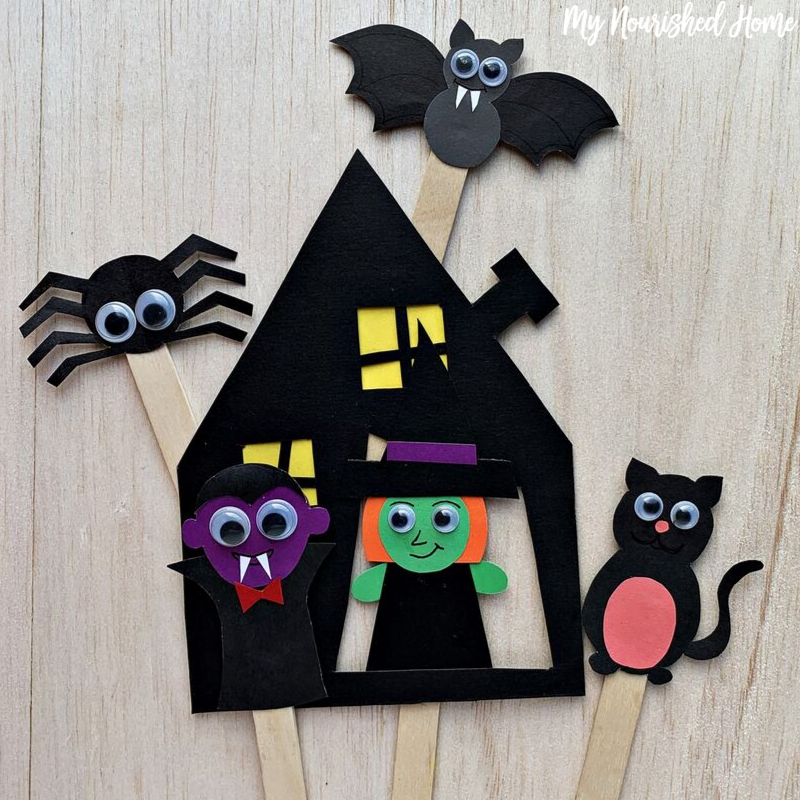 Paper Halloween Puppets