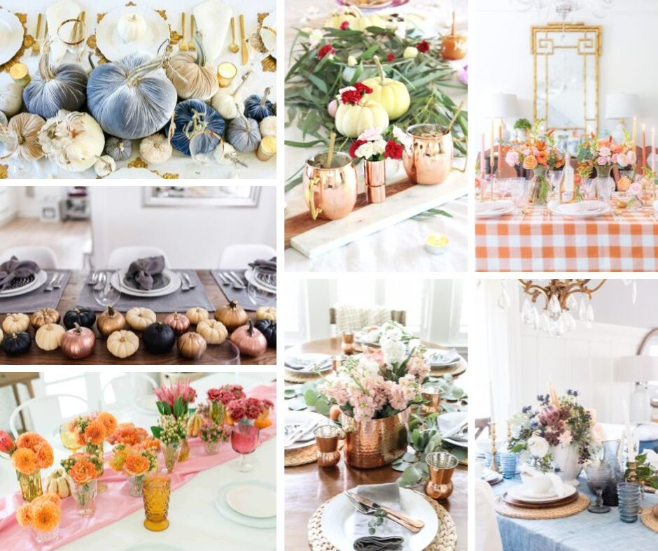These Fall tables are stunning, easy to create, and will make your home look like a magazine catalog. So get ready to celebrate your holiday dinner around these beautiful centerpieces.