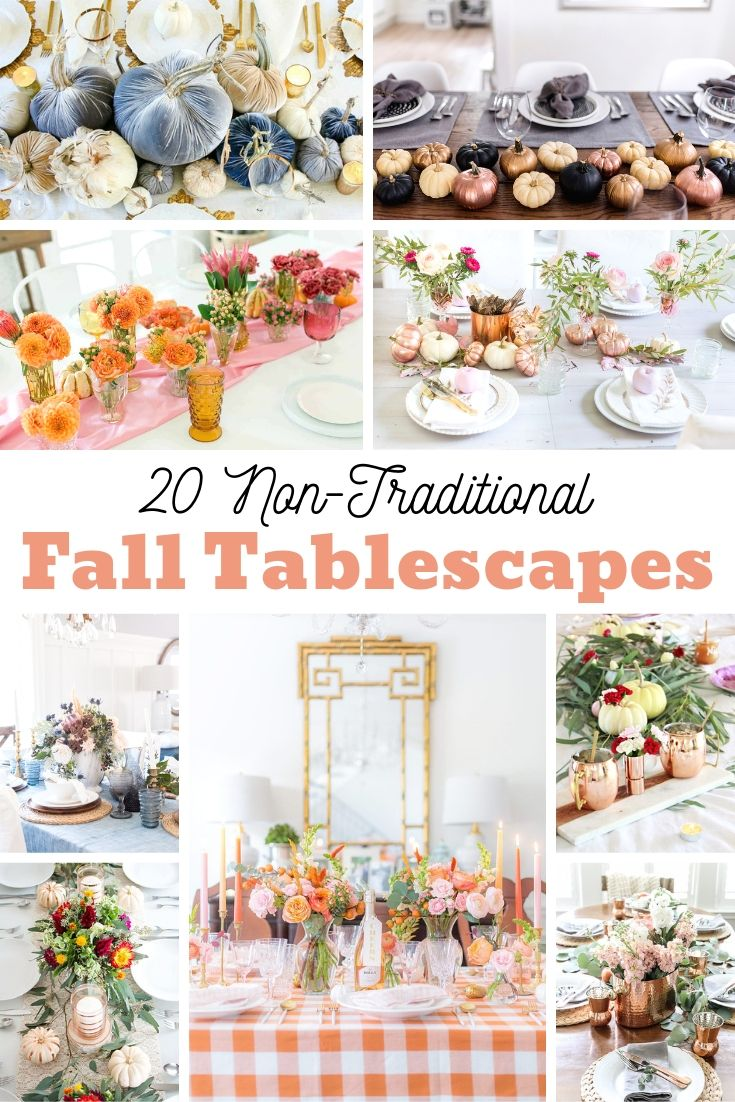 These non-traditional Fall Table decor ideas are a beautiful way to transform your dining experience and warm up your home. The best part, these Pinterest worthy ideas are totally achievable and can be inexpensive options for any home.