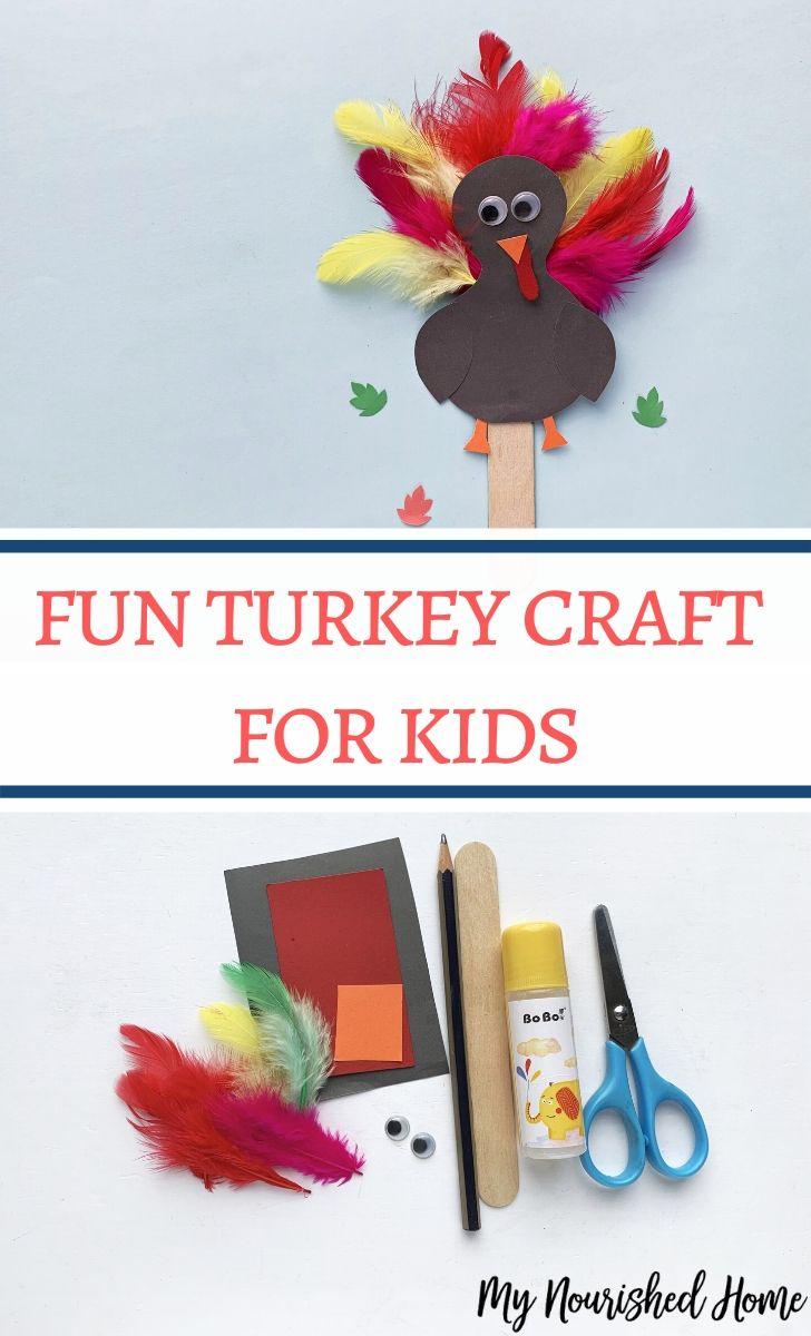 Fun turkey craft for kids