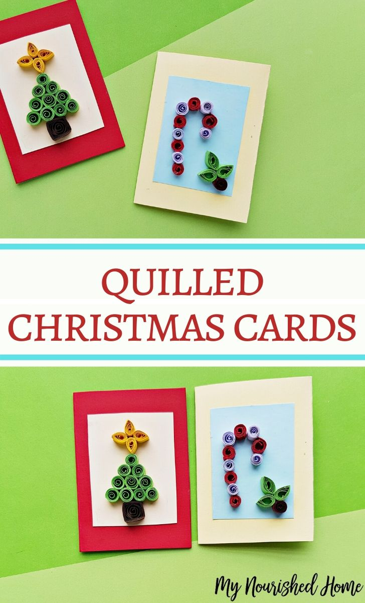quilled Christmas Card tutorial