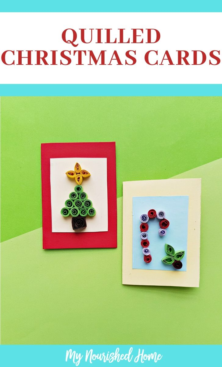 Make Christmas Cards with basic quilling