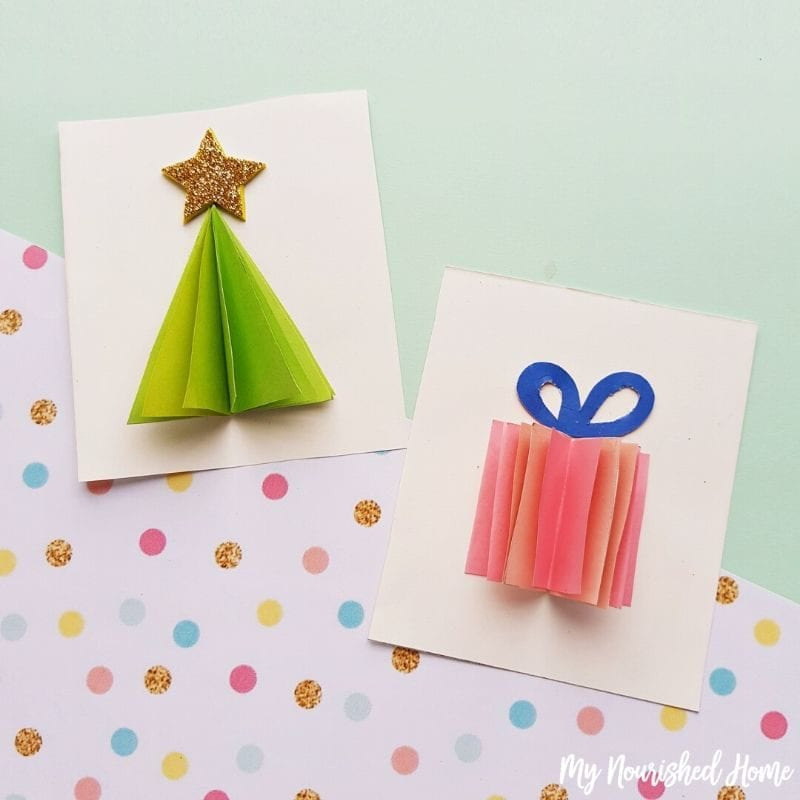 3d christmas cards a fun papercraft for kids and adults my nourished home 3d christmas cards a fun papercraft