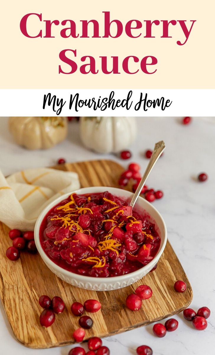 This naturally sweetened version of cranberry sauce is more like relish than canned jelly!