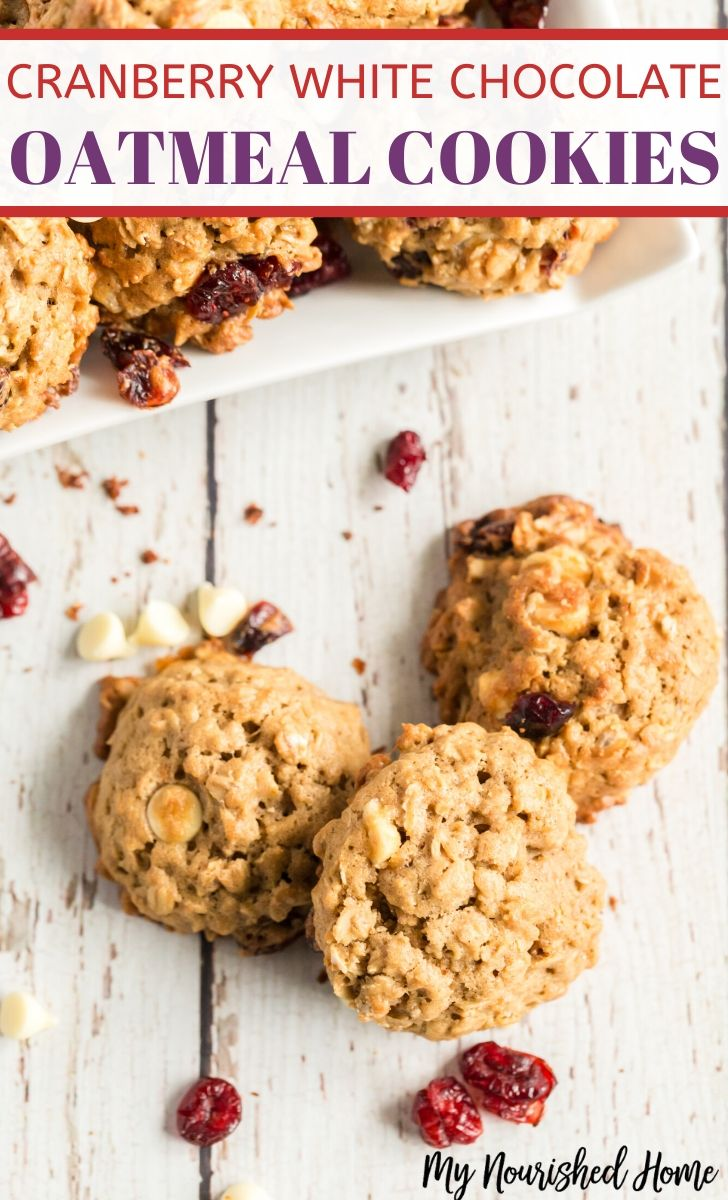 Cranberry White Chocoalte Oatmeal Cookies