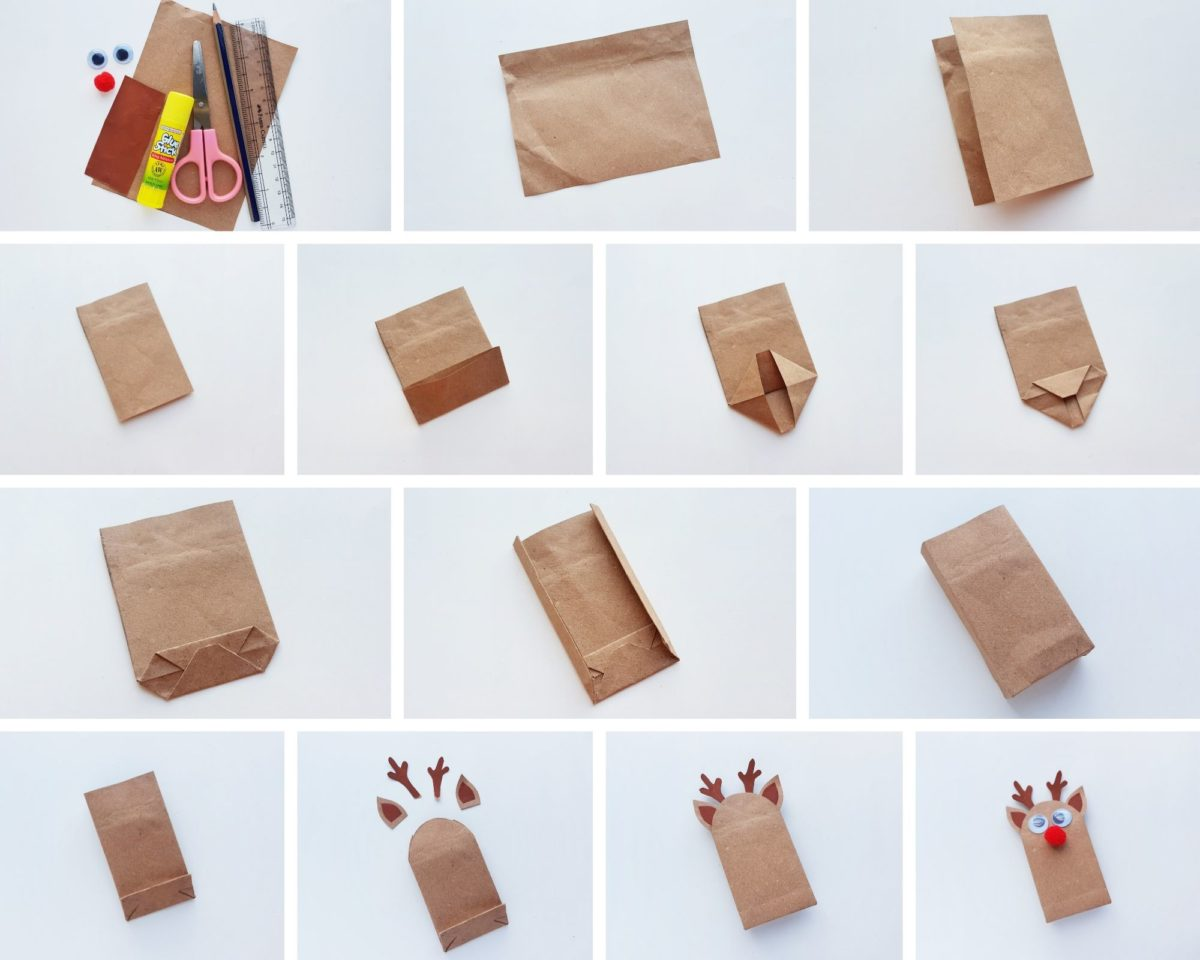 Reindeer Gift Bag photo tutorial