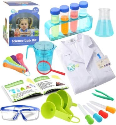 Kids science experiment kit and Lab coat