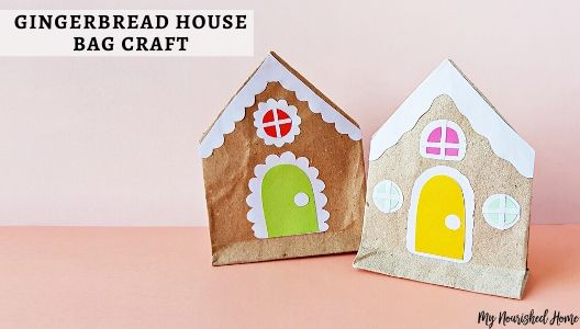 Gingerbread house papercraft for kids