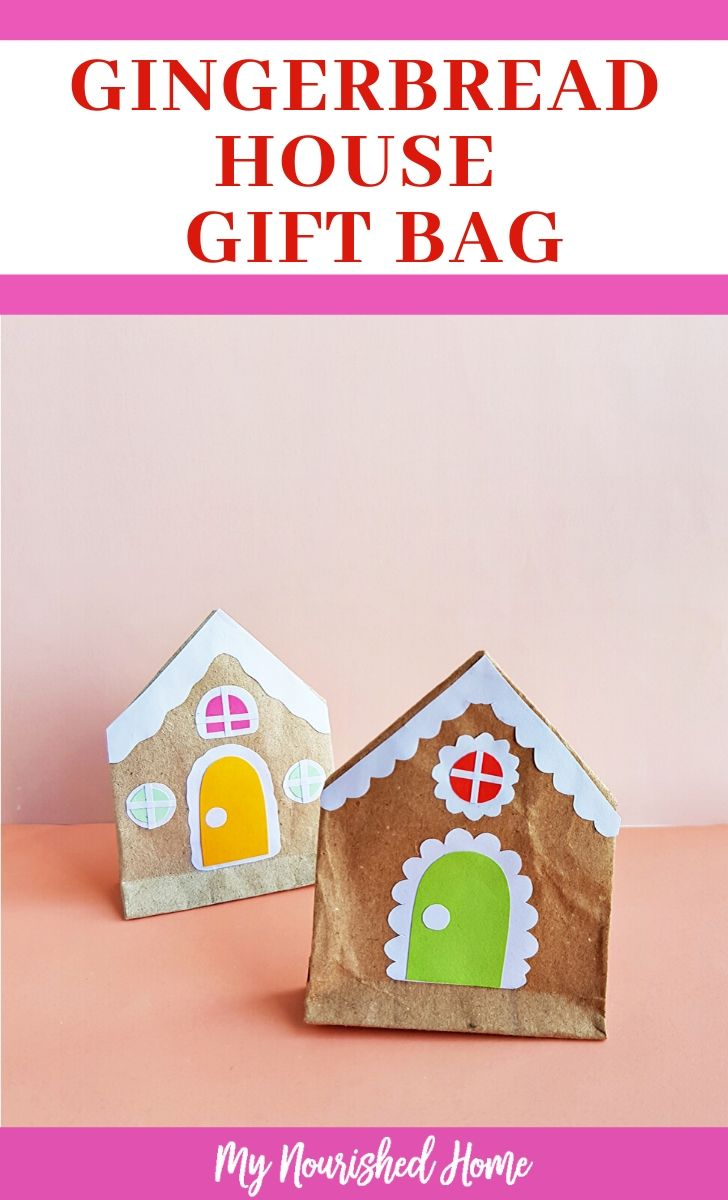 Gingerbread house gift bag for kids