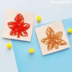 leaf string art