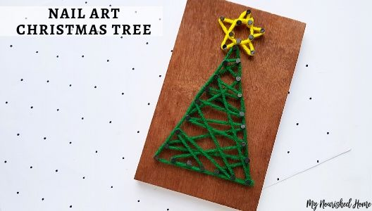Christmas string art for kids