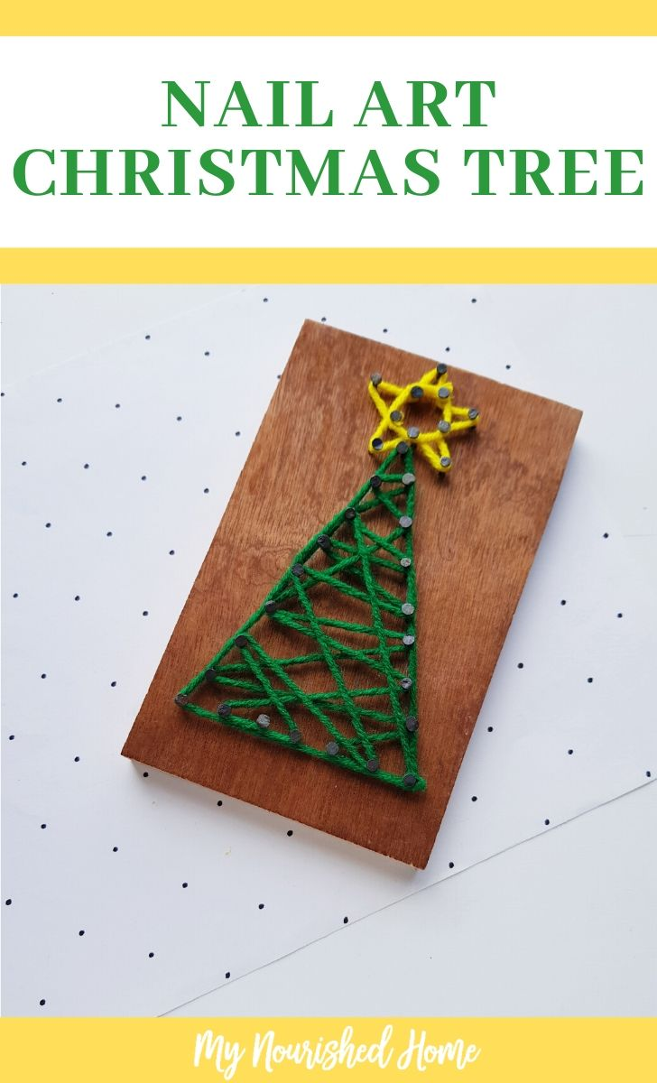 String art crafts for kids this Christmas