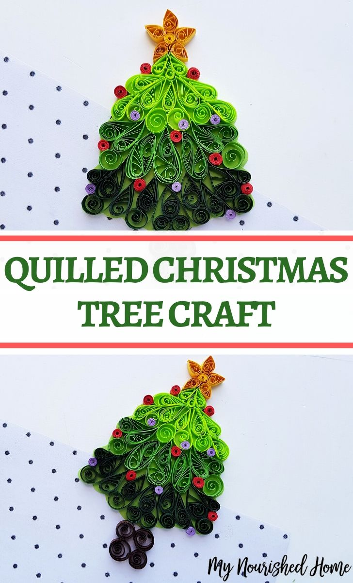 A fun beginner quilled Christmas tree