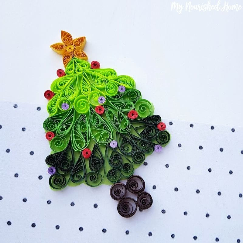 Papercraft Christmas Tree craft